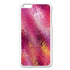 Red Seamless Abstract Background Apple Iphone 6 Plus/6s Plus Enamel White Case
