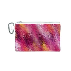 Red Seamless Abstract Background Canvas Cosmetic Bag (S)