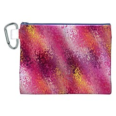 Red Seamless Abstract Background Canvas Cosmetic Bag (XXL)