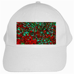 Red Turquoise Abstract Background White Cap