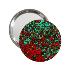 Red Turquoise Abstract Background 2 25  Handbag Mirrors