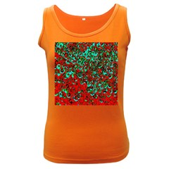 Red Turquoise Abstract Background Women s Dark Tank Top