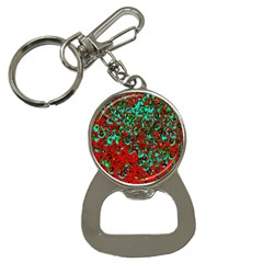 Red Turquoise Abstract Background Button Necklaces