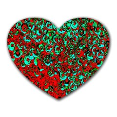 Red Turquoise Abstract Background Heart Mousepads