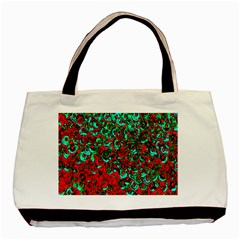 Red Turquoise Abstract Background Basic Tote Bag (Two Sides)