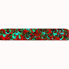 Red Turquoise Abstract Background Small Bar Mats