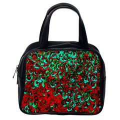 Red Turquoise Abstract Background Classic Handbags (One Side)
