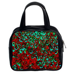 Red Turquoise Abstract Background Classic Handbags (2 Sides)