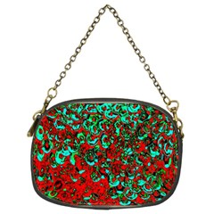 Red Turquoise Abstract Background Chain Purses (Two Sides)