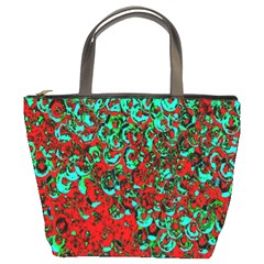 Red Turquoise Abstract Background Bucket Bags