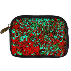 Red Turquoise Abstract Background Digital Camera Cases