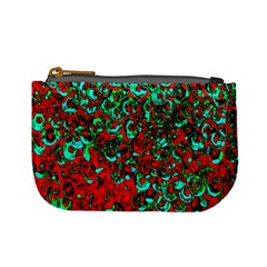Red Turquoise Abstract Background Mini Coin Purses