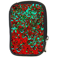 Red Turquoise Abstract Background Compact Camera Cases