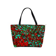 Red Turquoise Abstract Background Shoulder Handbags