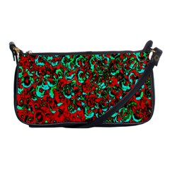 Red Turquoise Abstract Background Shoulder Clutch Bags