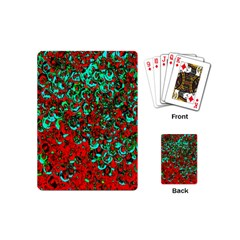 Red Turquoise Abstract Background Playing Cards (Mini)