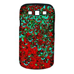 Red Turquoise Abstract Background Samsung Galaxy S Iii Classic Hardshell Case (pc+silicone)
