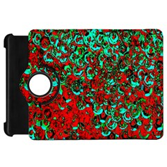 Red Turquoise Abstract Background Kindle Fire HD 7