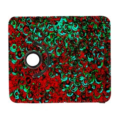 Red Turquoise Abstract Background Galaxy S3 (flip/folio)