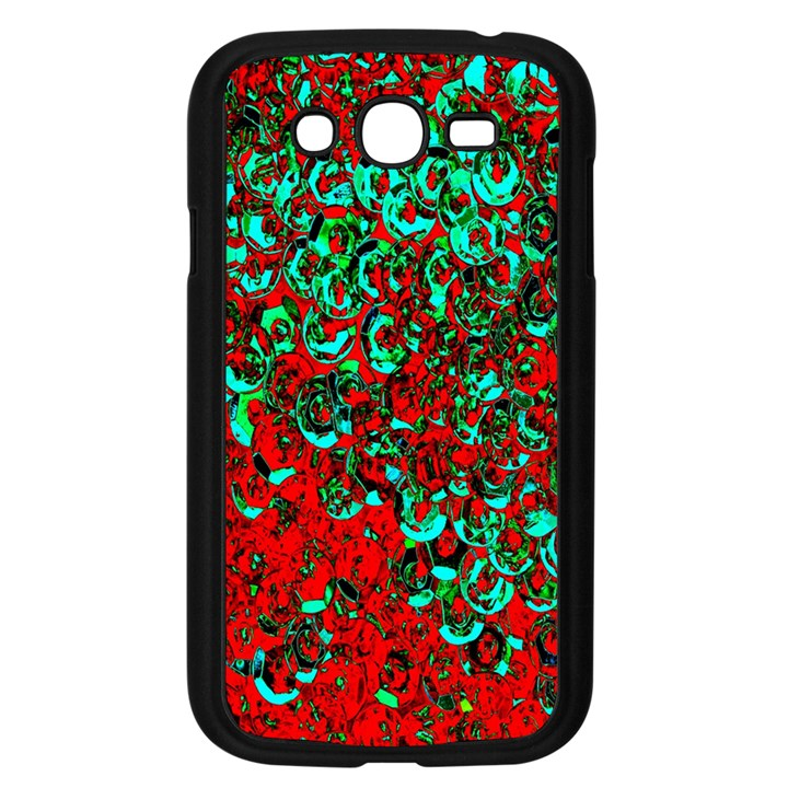 Red Turquoise Abstract Background Samsung Galaxy Grand DUOS I9082 Case (Black)