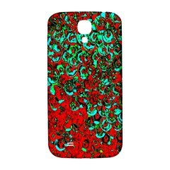 Red Turquoise Abstract Background Samsung Galaxy S4 I9500/I9505  Hardshell Back Case