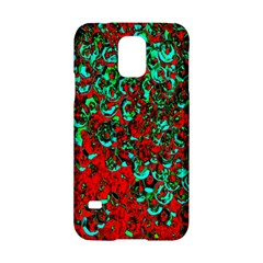 Red Turquoise Abstract Background Samsung Galaxy S5 Hardshell Case