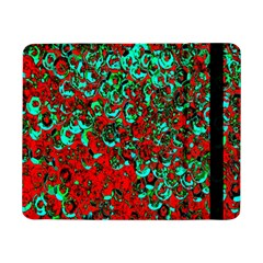 Red Turquoise Abstract Background Samsung Galaxy Tab Pro 8 4  Flip Case