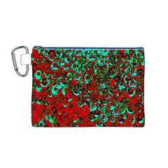 Red Turquoise Abstract Background Canvas Cosmetic Bag (m)