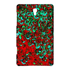 Red Turquoise Abstract Background Samsung Galaxy Tab S (8.4 ) Hardshell Case