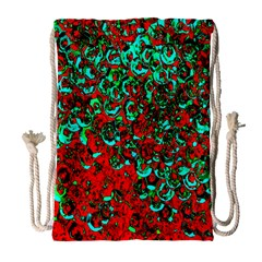 Red Turquoise Abstract Background Drawstring Bag (large)