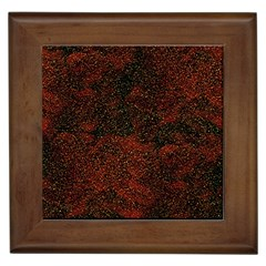 Olive Seamless Abstract Background Framed Tiles