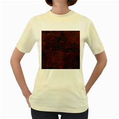 Olive Seamless Abstract Background Women s Yellow T Shirt
