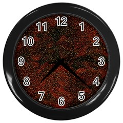 Olive Seamless Abstract Background Wall Clocks (Black)