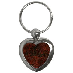 Olive Seamless Abstract Background Key Chains (heart)