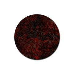 Olive Seamless Abstract Background Rubber Coaster (round)