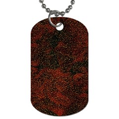 Olive Seamless Abstract Background Dog Tag (Two Sides)