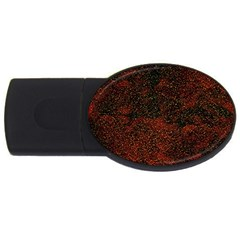 Olive Seamless Abstract Background USB Flash Drive Oval (1 GB)