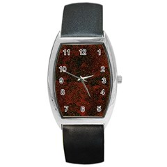 Olive Seamless Abstract Background Barrel Style Metal Watch