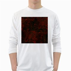 Olive Seamless Abstract Background White Long Sleeve T-Shirts