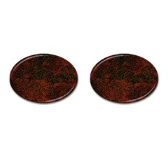 Olive Seamless Abstract Background Cufflinks (Oval)