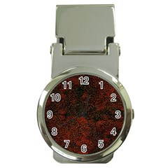Olive Seamless Abstract Background Money Clip Watches