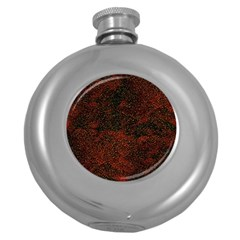 Olive Seamless Abstract Background Round Hip Flask (5 Oz)