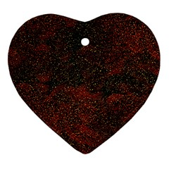 Olive Seamless Abstract Background Heart Ornament (Two Sides)