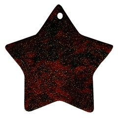 Olive Seamless Abstract Background Star Ornament (Two Sides)