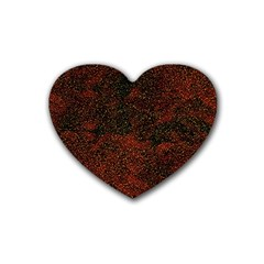 Olive Seamless Abstract Background Rubber Coaster (Heart)