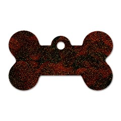 Olive Seamless Abstract Background Dog Tag Bone (Two Sides)