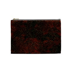 Olive Seamless Abstract Background Cosmetic Bag (medium)