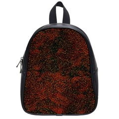 Olive Seamless Abstract Background School Bags (Small)