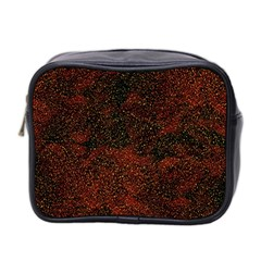 Olive Seamless Abstract Background Mini Toiletries Bag 2 Side