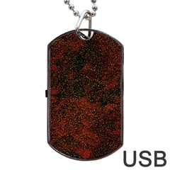 Olive Seamless Abstract Background Dog Tag USB Flash (Two Sides)